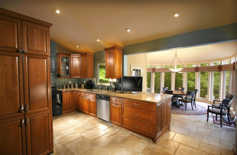 Recessed lighting kitchen image