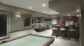 basement recessed lights image