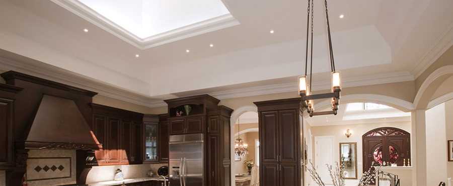 luxury kitchen lighting representation