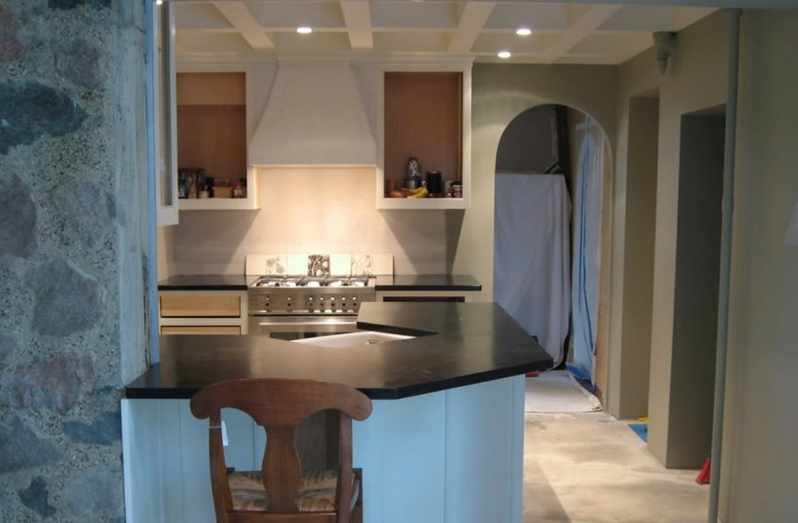 image of recessed lights in kitchen