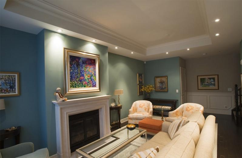 image of a beautiful living room lights