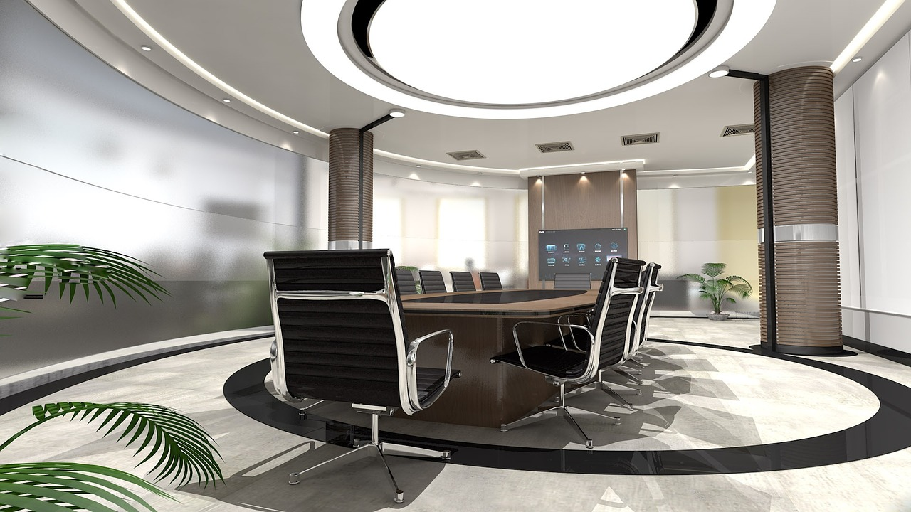 Photo of office with Recessed Lighting