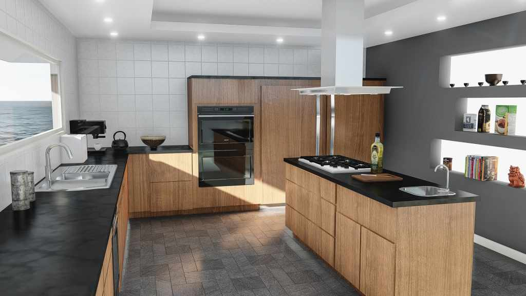 image of a recessed lighting in kitchen