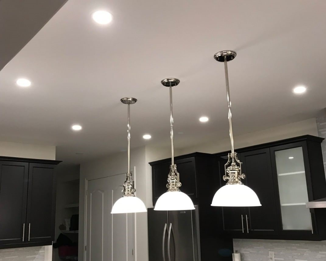 new kitchen potlights and recessed lights