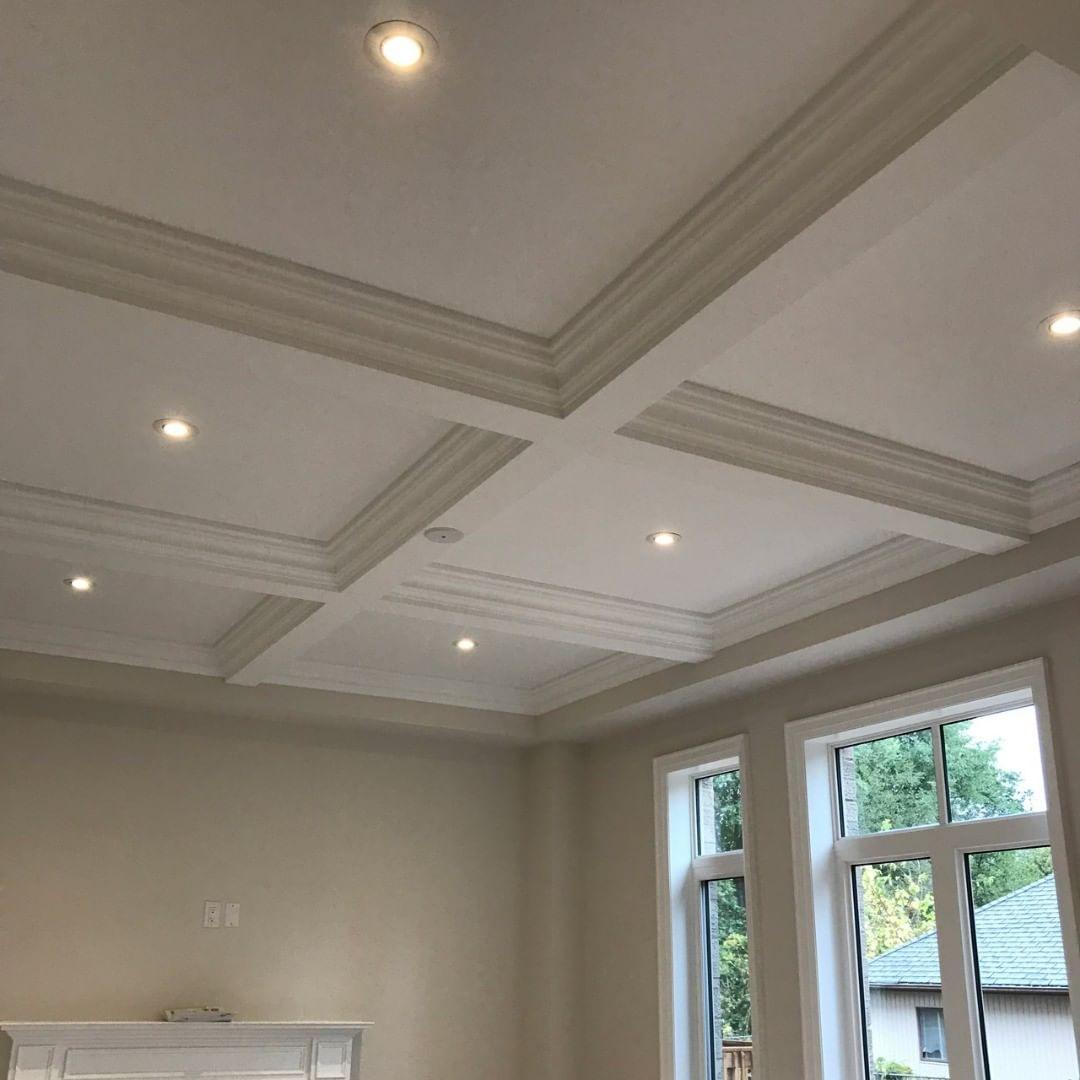 representation of potlights waffle ceiling