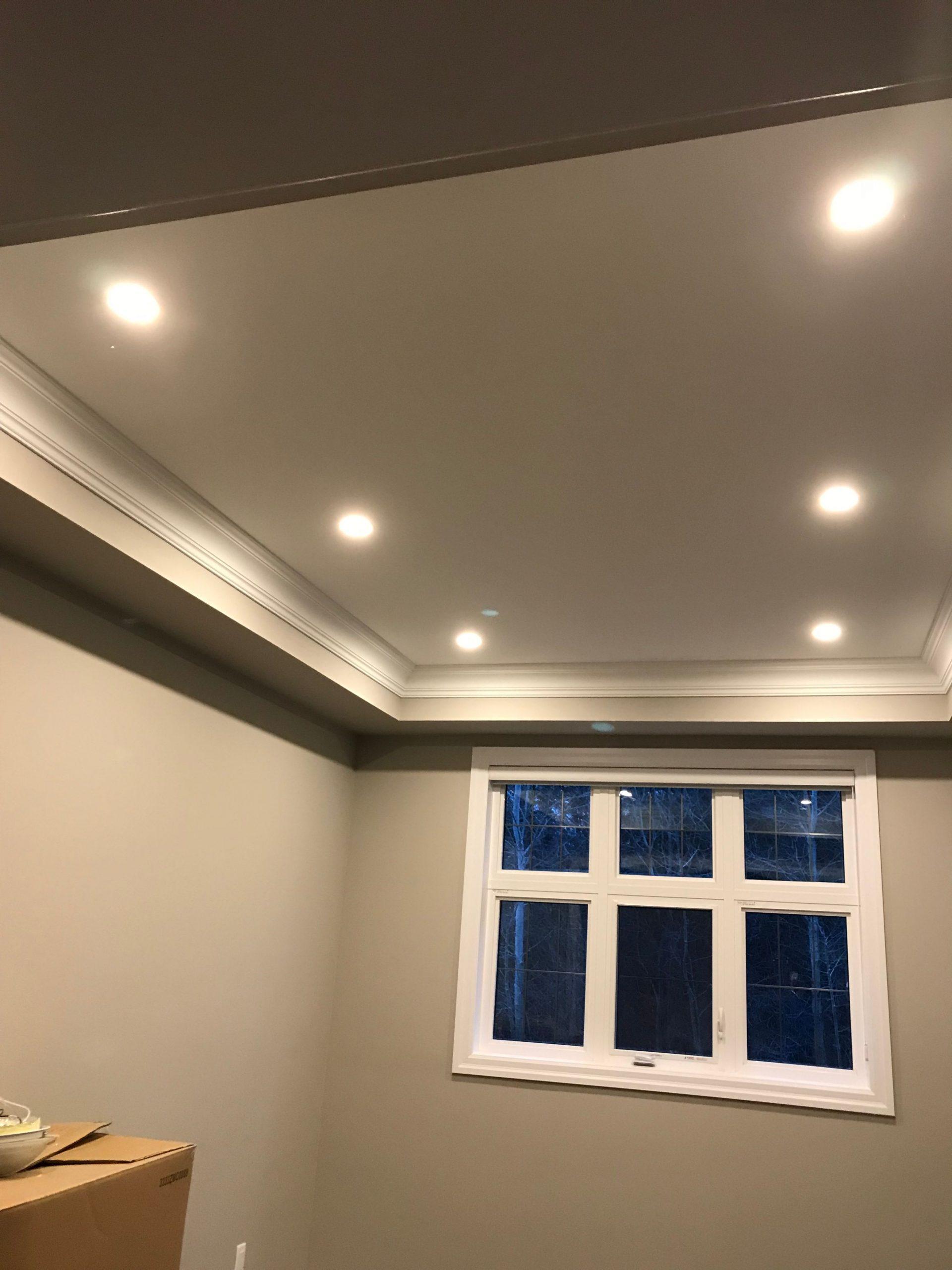 pot lights in bedroom