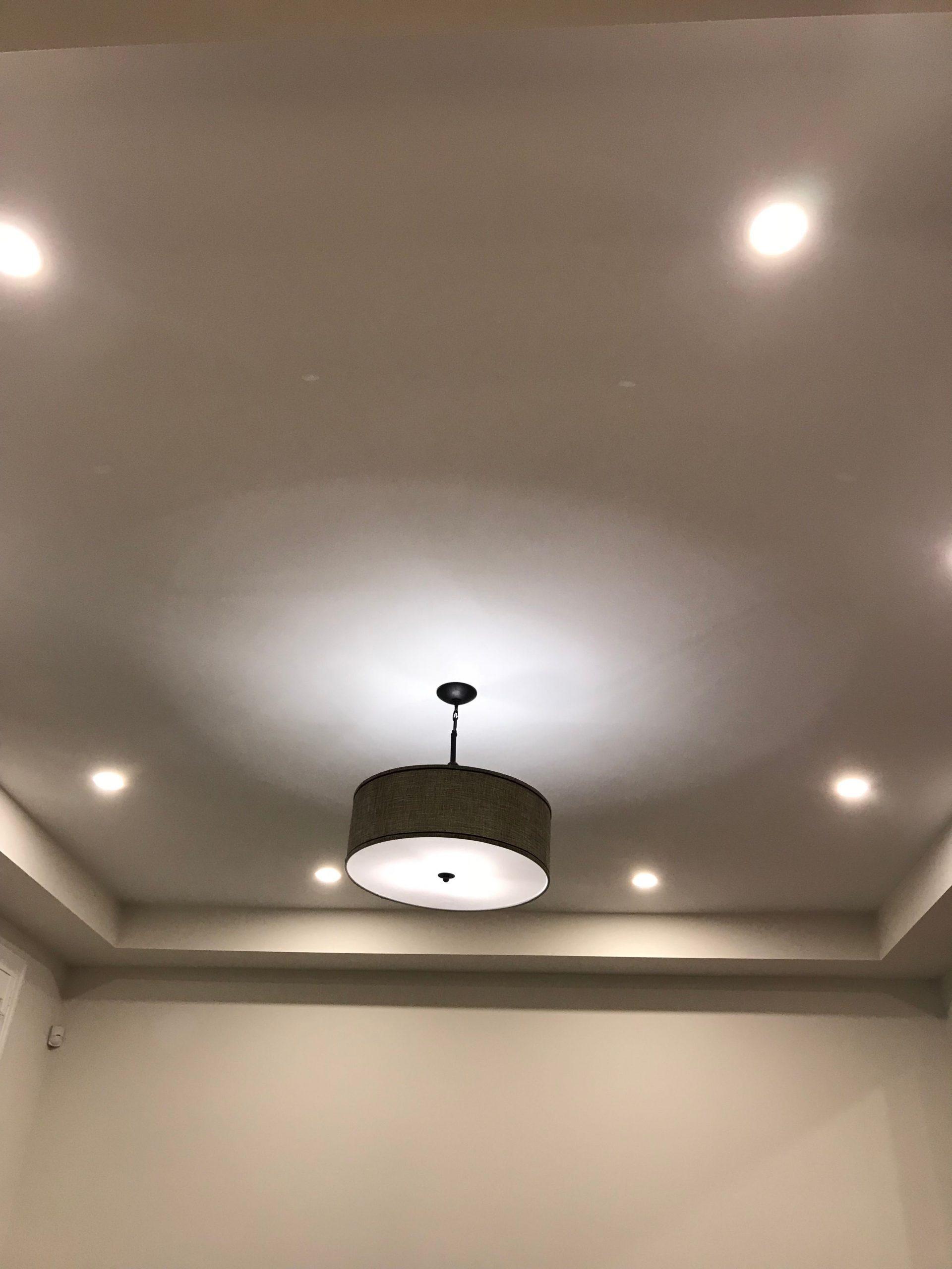 ceiling lights in the living room - pot light ideas