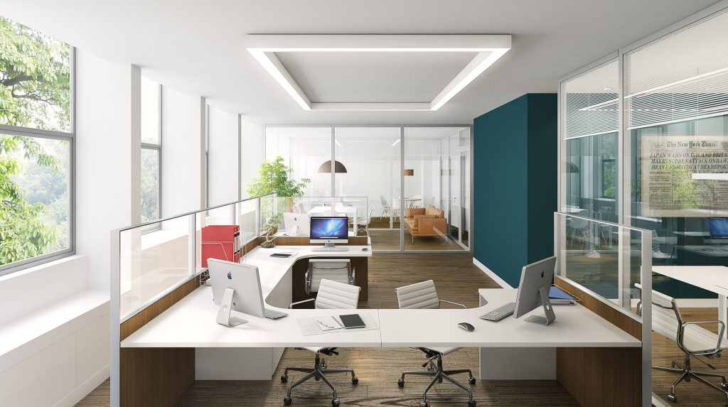 Office with Luxury Task Lighting