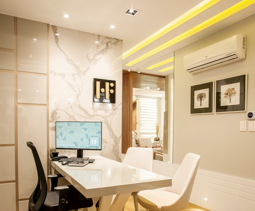 amazing home office with ceiling potlights - pot light installation stouffville
