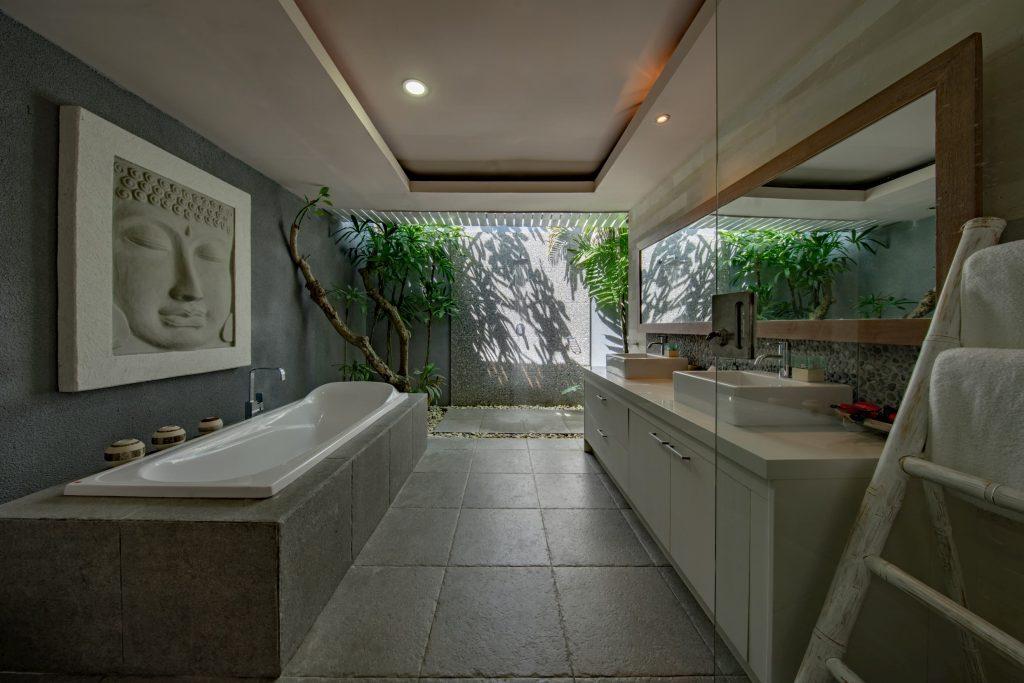 amazing bathroom with pot lights - pot light installation aurora