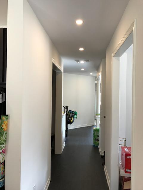 hallway potlight installation