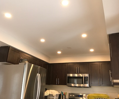 amazing kitchen ceiling with potlights